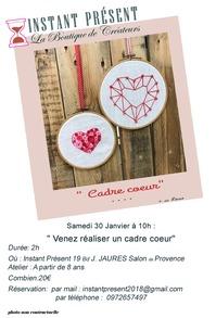"Atelier"" Cadre coeur """