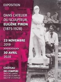 Dans l'atelier du sculpeur Eugène Piron