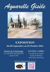 """Exposition """"Aquarelle Gisèle"""""""